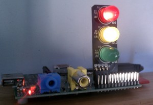 Pi Traffic Light installed