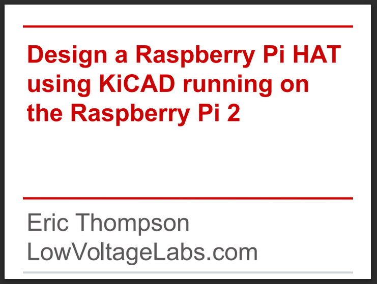 Design a Raspberry Pi HAT presentation